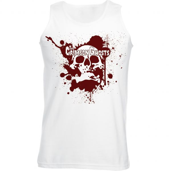 The Crimson Ghosts The Crimson Ghosts - Splatter Skull Tank Top