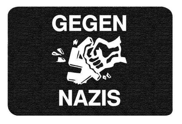 Gegen Nazis | Fußmatte