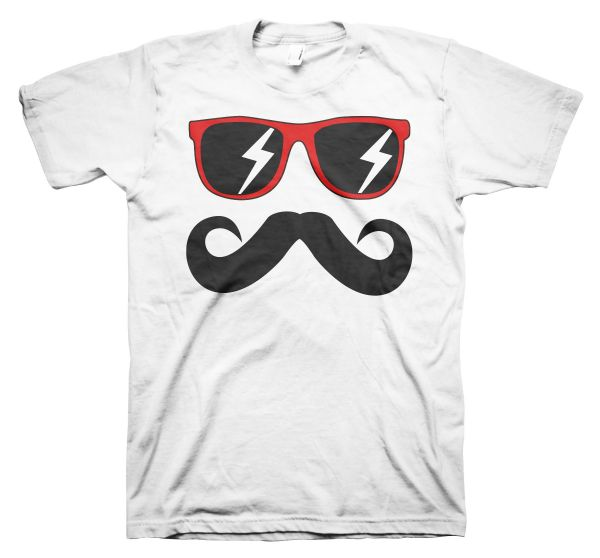 Fun Mustache & Glasses red