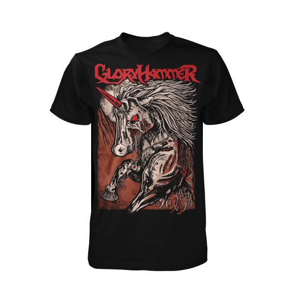 Gloryhammer Red Logo Unicorn | T-Shirt