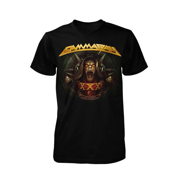 Gamma Ray 30 Years Golden Logo | T-Shirt