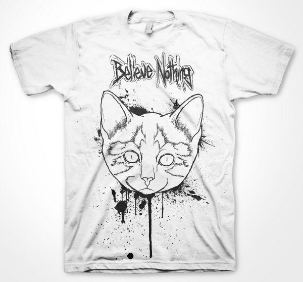 Believe Nothing Black Cat