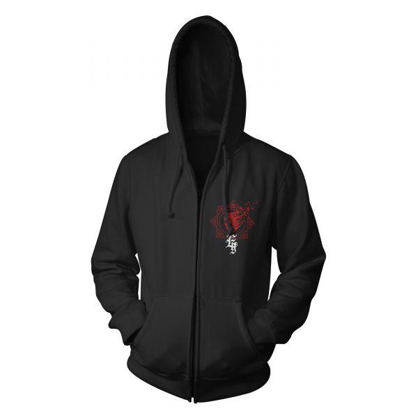 Evergrey Red Heart | Hood-Zip