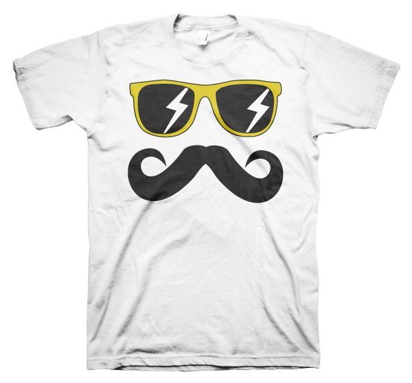 Fun Mustache & Glasses yellow