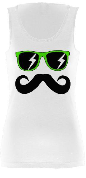 Fun Mustache & Glasses green