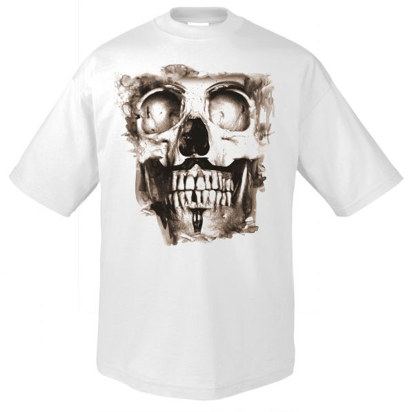 Rock & Style Vintage Skull white