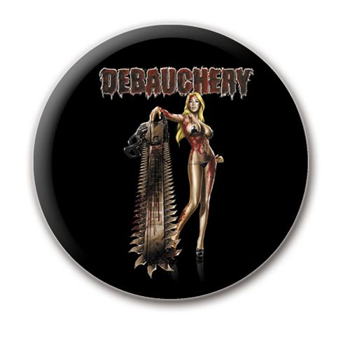 Debauchery Todesmetall Kriegsmaschine Button