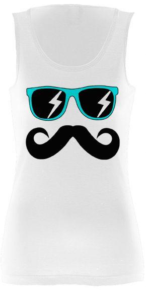 Fun Mustache & Glasses aqua