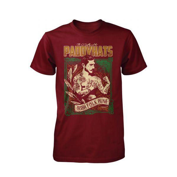 The O Reillys and the Paddyhats Irish Folk Punk burgund | T-Shirt