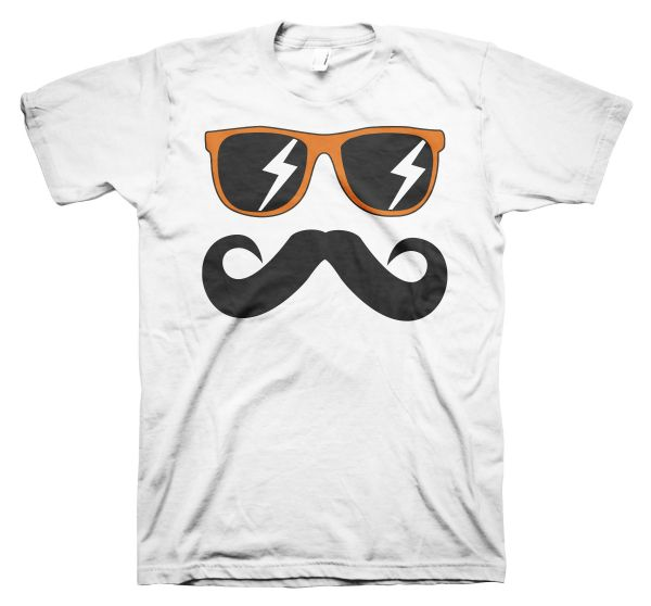 Fun Mustache & Glasses orange