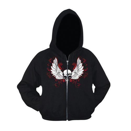 Art Worx Wings Girly Zip Hood
