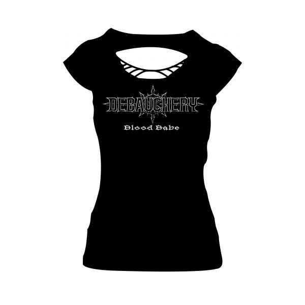 Debauchery Blood Babe Cutted Back | Girly T-Shirt