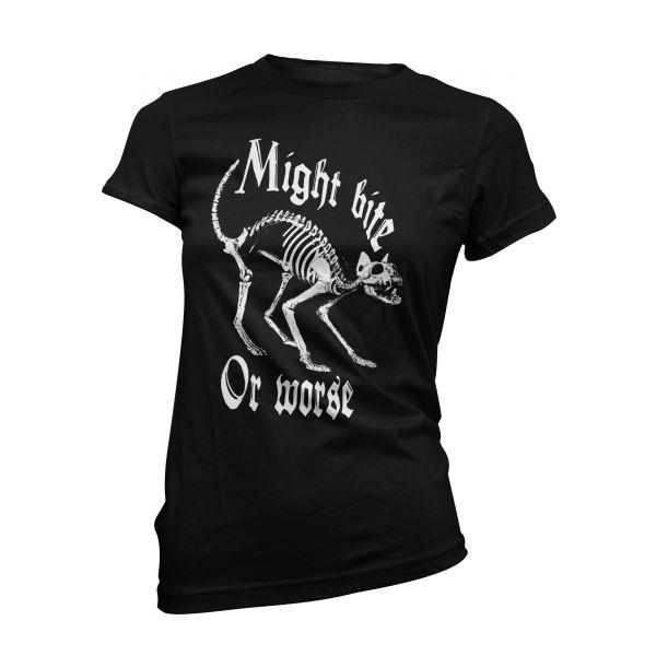 Art Worx Skeleton Cat | Girly T-Shirt