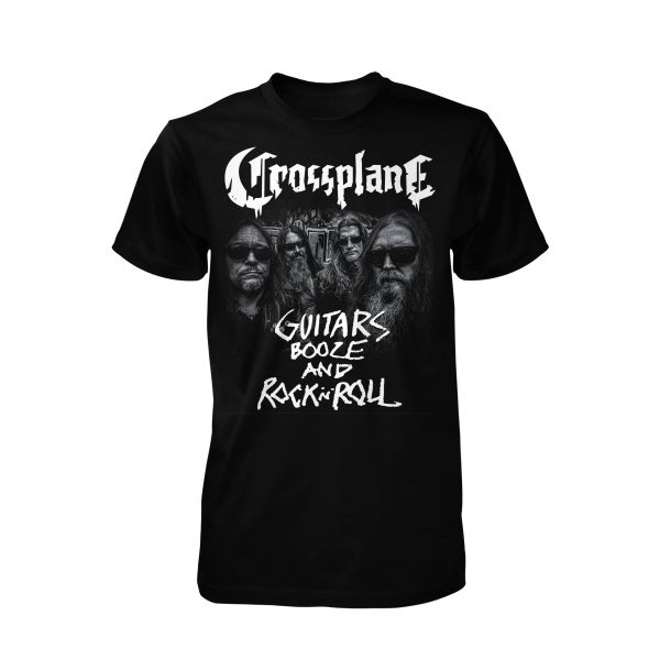 Crossplane Guitars Booze and Rock N Roll | T-Shirt