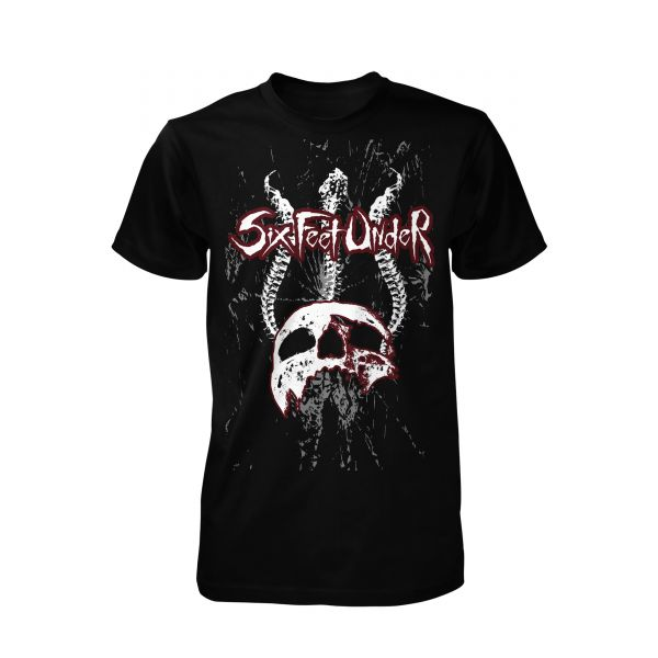 Six Feet Under Spine Skull | T-Shirt
