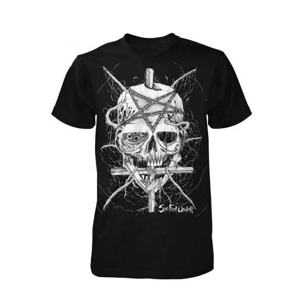 Six Feet Under Penta Skull | T-Shirt