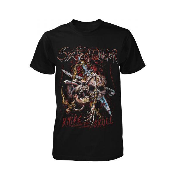 Six Feet Under Knife thru the Skull | T-Shirt