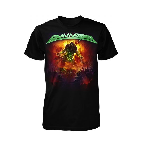 Gamma Ray 30 Years Green Logo | T-Shirt