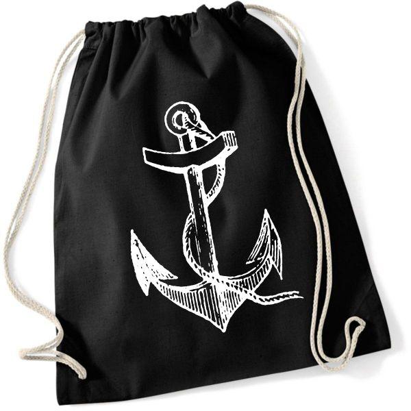 Rock Style Anker Anchor Schiff Ahoi Turnbeutel