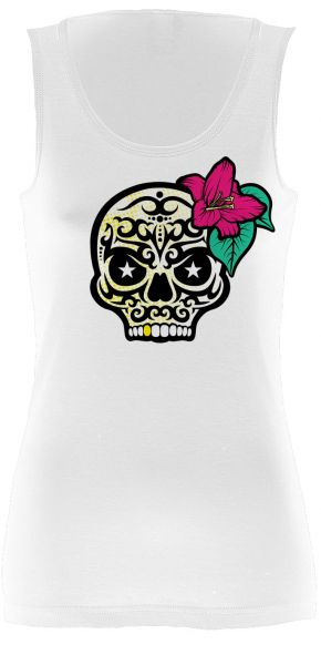 Rock & Styles Flower Candy Skull