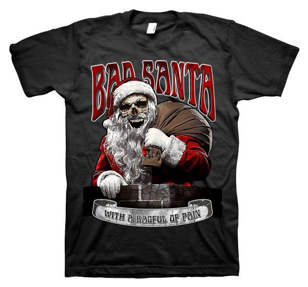 Rock Style Bad Santa böser Weihnachtsmann