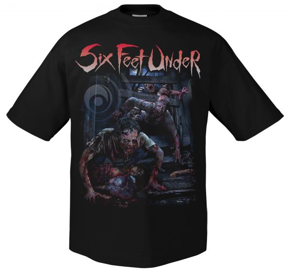 Six Feet Under Six Feet Under - Zombie Blood Curse T-Shirt