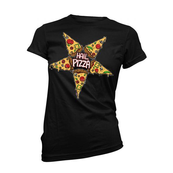 Art Worx Hail Pizza | Girly T-Shirt