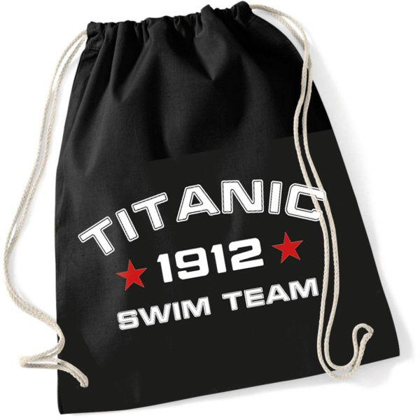 Rock Style Titanic Swim Team 1912 Turnbeutel Gymsac