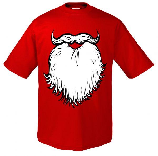 FUN Weihnachtsmann Bart T-Shirt FUN Xmas