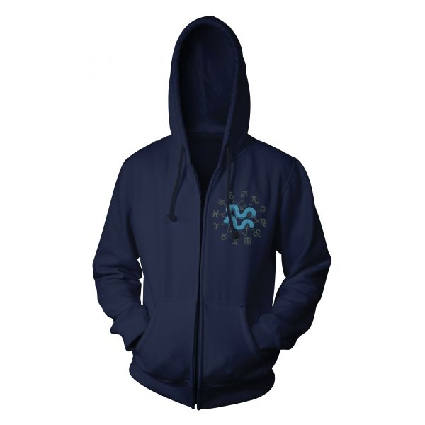 Zodiak Aquarius | Hood-Zip