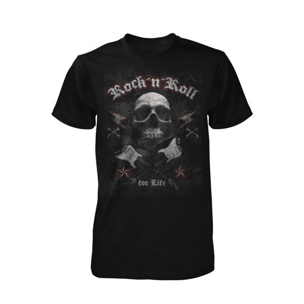 Art Worx Rock n Roll Skull
